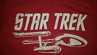 SMALL Star Trek t shirt : USS Enterprise spock