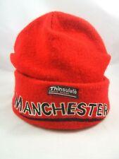 Manchester Winter Hat Red Thinsulate Toque Beanie Stocking Cap