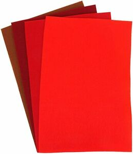 Dovecraft Essentials - A4 Felt Multipack (Reds)
