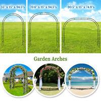 Steel Garden Grow Arch Arbor Trellis for Climbing Plants Wedding Party Iron Gate