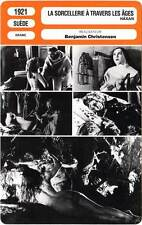 FICHE CINEMA : LA SORCELLERIE A TRAVERS LES AGES - Christensen 1921 Haxan