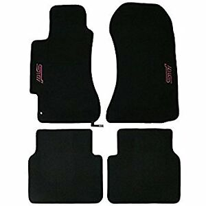 2002-07 Subaru Impreza WRX STI Custom Carpet Floor Mats Black SCI440B202 NEW OEM