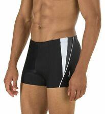 Speedo Men's Size SMALL Black PowerFLEX Eco Fitness Splice Square Leg Swimsuit