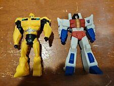 Lot of 2 2013 Hasbro Transformers Figures Starscream and Bumblebee