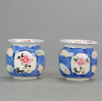 Antique 19/20C Japanese Porcelain set of vases Imari Flowers Small