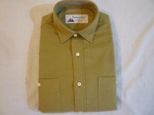 SANTIAGO SHIRT By GITMAN BROS Khaki Chamois Shirt Men's S New WO Tags FREE SHIP