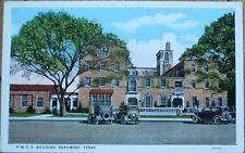 Beaumont, TX 1920s Postcard: YMCA Building/Cars - Texas Tex