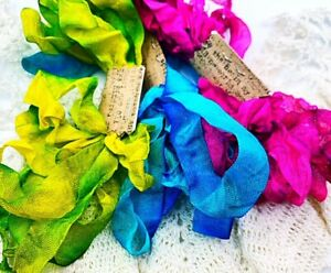 Zack & Kelly 80's Colors - 9 Yards Hand Dyed Seam Binding LIMITED RUN