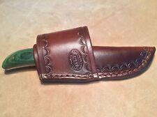 Custom Leather Crossdraw Sheath for BROWNING Break Up Drop Point Knife