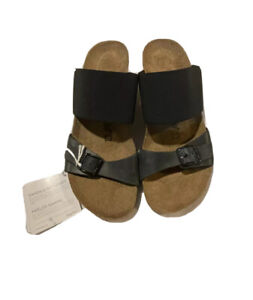 Papillio Made In Portugal Black Wedge women's Sandals 38-39 (7.5-8.5) *see Descr
