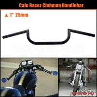 Handlebar Bar 1″ 25mm Motorcycle For Harley Davidson Sportster 883 1200 Black