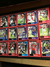 2020 Score Football NFL 15 Card Lot of the Red Parallel Metcalf, Jones, Sherman