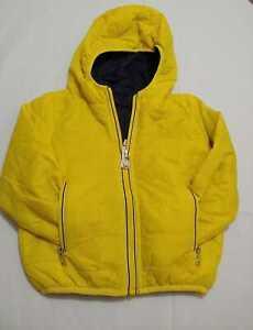 Giubbotti reversibile abbigliamento neonato giallo zip cerniera taglia 0-3 anni