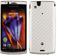 Skinomi Carbon Fiber Silver Skin+Screen Protector for Sony Ericsson Xperia Arc S