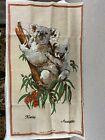 Heil Linen Tapestry Wall Hanging Koalas Australia 31x18