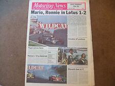 Motoring News 25 May 1978 Aurora F1 Donington Belgian GP Colt Celeste Test