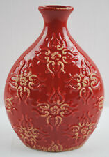 "Ashland Home Collection Red 11"" Tall Decorative Ceramic Vase"