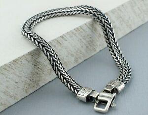 "Mens Silver Herringbone Bracelet - 925 Sterling Silver  8.5"""