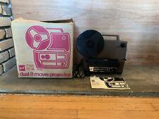 Gaf Model 2388 Dual 8mm Movie Projector w/ original box, accessories & manual
