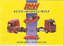 Infoblatt Katalog AMW AWM Dauerserie 1995 Modellautos 1:87