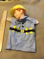 Hand Puppet, Construction Worker, Vinyl Head Fabric Body