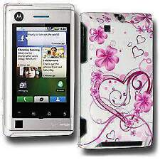 Exotic Love Click On Case Cover for Motorola DEVOUR A555 - White Pink