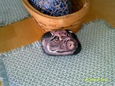 "ORIGINAL PAINTING OF A ""PIG"" ON PENNSYLVANIA RIVER ROCK UNIQUE!"