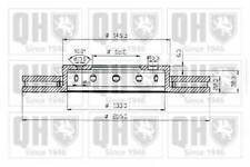 QUINTON HAZELL BDC4669 BRAKE DISCS (PAIR) FRONT AXLE RC481070P OE QUALITY