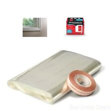 New Indoor Insulator Kit 5 Window Home Winter Energy Saver Clear Film Heat