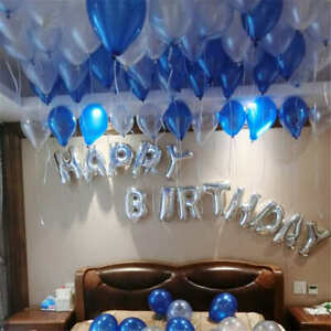"40"" Large Letter Number Balloon Float Helium Alphabet Silver Gold Blue Pink Hot"