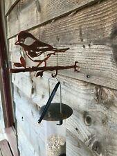 METAL SILHOUETTE BIRD FEEDER HANGERS SCREW IN METAL BIRD GREAT TIT