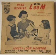 Vintage Wnc Art. 403 Hand Weaving Loom Jersey Loop Original Box circa 1960s