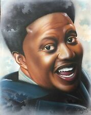 Bernie Mac On Canvas Black Comedian