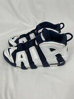 """Nike Air More Uptempo """"Olympic"""" 2020 414962-104 White Midnight Navy Size 9.5"""