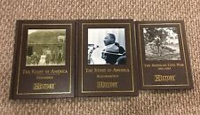 *Lot Of 3 History Channel Club Books: The Story of America & Civil War (HC/LN)*