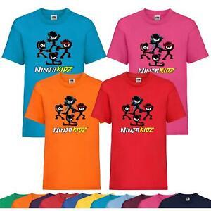 Kids Team Boys Girls Ninja Kidz Tv Gaming T-Shirt Childrens Funny Gift Tee Top