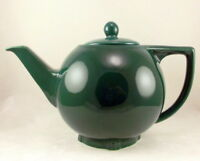 Hall China Star Teapot Undecorated Turquoise 6 cup Vintage