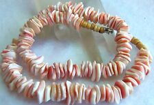 VINTAGE DECO HEAVY ANGEL SKIN CORAL CHOKER NECKLACE ESTATE JEWELRY NICE 63.7GR