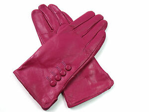 Ladies Premium High Quality Genuine Soft Leather Gloves Plush Lined Driving Warm