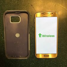 Samsung Galaxy S6 SM-G920i 32GB Gold Claro iWireless w/ OtterBox Case Bundle