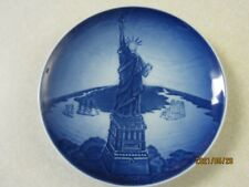 Bing & Grondahl 1996 Christmas Eve At The Statue Of Liberty Annual Plate Mib