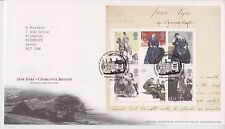 TALLENTS GB ROYAL MAIL FDC 2005 CHARLOTTE BRONTE JANE EYRE STAMP SHEET NO INSERT