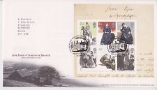 TALLENTS PMK GB ROYAL MAIL FDC 2005 CHARLOTTE BRONTE STAMP MINIATURE SHEET