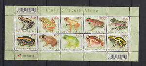 South Africa Stamps 2000 Frogs & Toads sheet , Mint Never hinged.