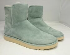 $195 NEW 8 UGG Australia Womens Abree Mini Boots Shearling 1016548 NWT Sea Green