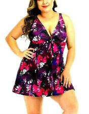 Women's Plus Size Swimsuit Tankini Swimwear Swimdress Bathing Suit Sz US 12-20
