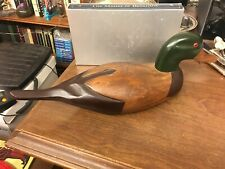 "Lovely 18"" Wood Decoy Duck Unsigned"