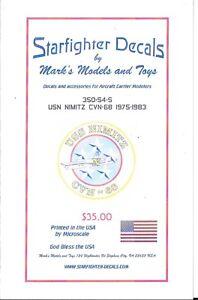 Starfighter USS NIMITZ CVN-68  Markings/Details 1975-1983 Decals 1/350 54s ST