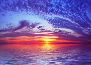 Australia Sunset Sunrise Beach Seascape poster canvas print ocean landscape