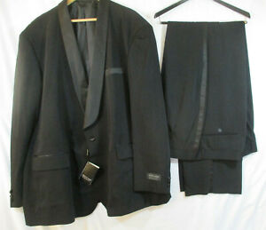 NWT Vittorio St Angelo Tuxedo 2 Piece Suit Black Size 48L